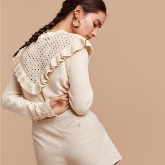 Aritzia Wilfred chaume sweater cream medium